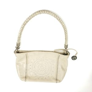 The Sak leather embroidery front braided handle